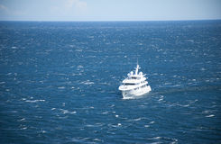 Yacht out in the sea Royalty Free Stock Photo