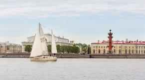 Yacht på börsen Royaltyfria Bilder