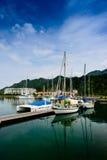 Yacht på kajen Royaltyfri Fotografi