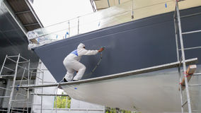 Yacht painting Stock Photography