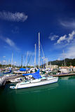 Yacht panorama Royalty Free Stock Photos