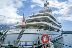 Yacht parked in Poro Montenegro,Tivat,Montenegro Royalty Free Stock Images