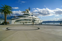 Yacht parked in Porto Montenegro,Tivat Stock Photo