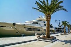 Yacht parked in Porto Montenegro,Tivat Stock Photos