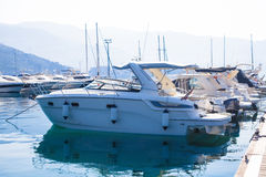 The yacht parking Stock Photography