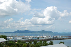 The yacht parking at the Pattaya region Stock Photo