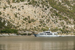 Yacht. Photo of Yacht in boka bay montenegro Royalty Free Stock Photography