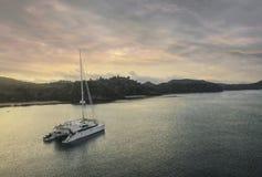 Yacht phuket Thailand Arkivfoton