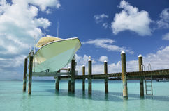 Yacht pier. Exuma, Bahamas Royalty Free Stock Photography