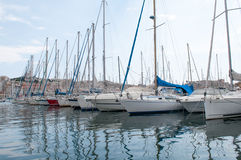 Yacht. In the pier in marseille, france Royalty Free Stock Photography