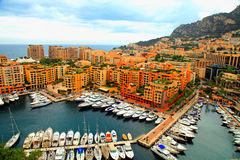 Yacht pier in Monte Carlo, Cote d'Azur Stock Photography