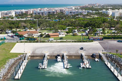 Cocoa beach yacht pier, Cape Canaveral Royalty Free Stock Photos