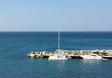 Yacht pier in summer Royalty Free Stock Photos
