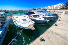 Yacht Pier in Zygi Marina. Cyprus. Stock Images
