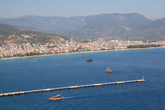 Yacht port in Alanya Stock Photos