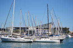 Yacht port in Barcelona Stock Images