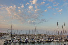 Yacht port of Barcelona Stock Photography