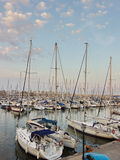 Yacht port of Barcelona Royalty Free Stock Images