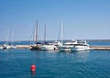 Yacht port. Brijuni. Croatia Royalty Free Stock Photography