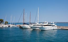 Yacht port. Brijuni. Croatia Stock Photo