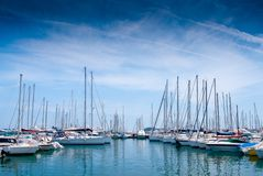 Yacht port in Cannes Stock Photos
