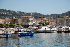 Yacht port in Cannes Stock Image