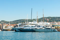 Yacht port in Cannes Royalty Free Stock Photography
