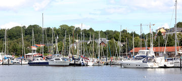 Yacht in the port city of Flensburg Germany!! Royalty Free Stock Photos