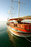 Yacht in the port. Stock Image