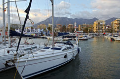 Yacht port in Marbella Stock Image