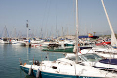 Yacht port of Moraira Royalty Free Stock Photo