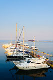 Yacht port in odessa, ukraine Royalty Free Stock Photos