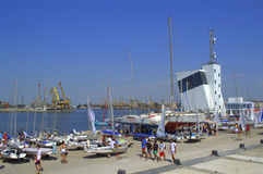 Yacht port quay ,Burgas Stock Image
