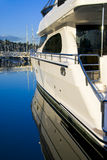 Yacht Port Side View Stock Images
