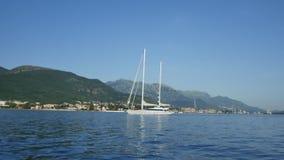 Yacht Porto Montenegro. Elite area of Tivat in Montenegro. Yacht Porto Montenegro. Elite marina of Tivat in Montenegro stock video footage