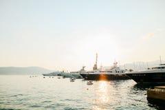 Yacht Porto Montenegro Elitområde av Tivat Royaltyfri Bild