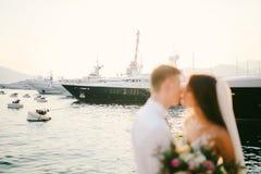 Yacht Porto Montenegro Elitområde av Tivat Arkivfoton