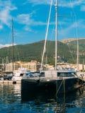 Yacht Porto Montenegro Elitområde av Tivat Royaltyfri Foto