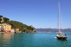 Yacht in Portofino bay. Stock Photography