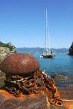 Yacht in Portofino bay. Stock Photos