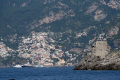 Yacht in positano Royalty Free Stock Images