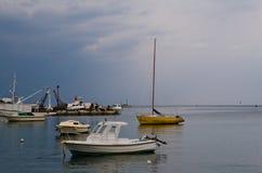 Yacht prima dell'alesaggio Fotografie Stock