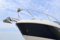 The yacht prow. Prow of the luxury yacht Royalty Free Stock Images