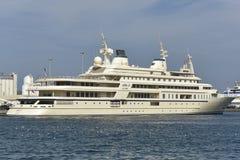 Yacht of Qaboos bin Said al Said, Sultan of Oman Stock Images