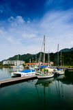 Yacht at quay Royalty Free Stock Photography