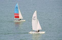 The yacht race Royalty Free Stock Photo