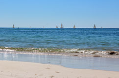 Yacht Racing at Busselton west Australia Stock Images