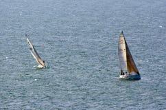 Yacht racing Royalty Free Stock Photos