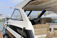 Yacht rear view Stock Photography