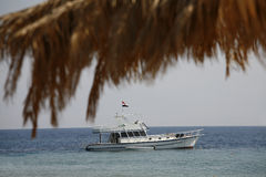 The yacht by the red sea Stock Image